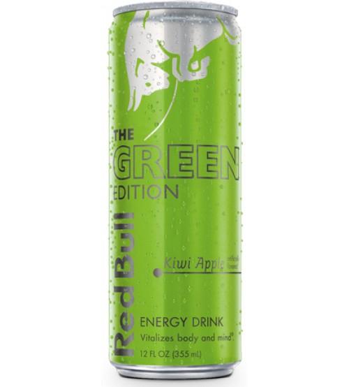 Ред Булл ( Red Bull ) 0.25х24 Green Edition (Киви/Яблоко) ж/б