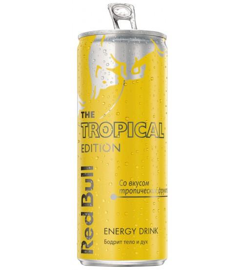 Ред Булл ( Red Bull ) 0.25х24 Tropic Edition (Тропические Фрукты) ж/б